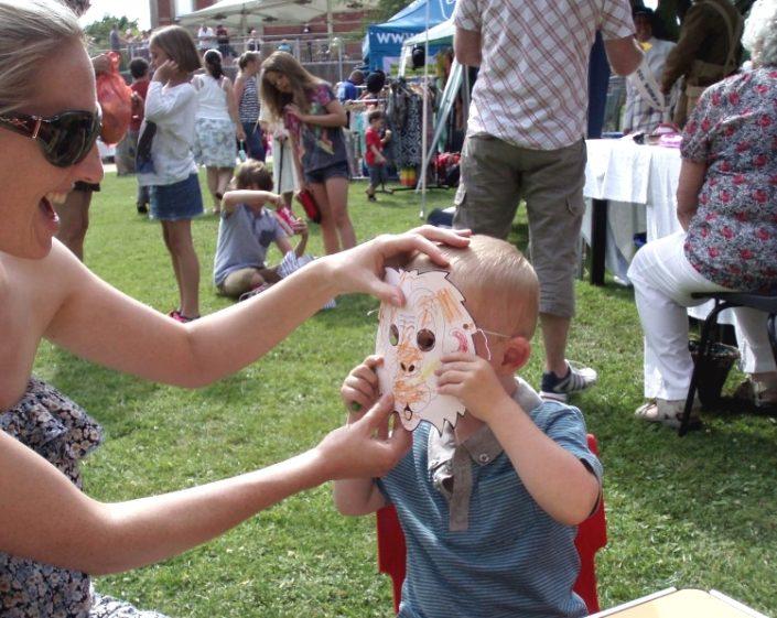 Face mask event at Cottam Nursery