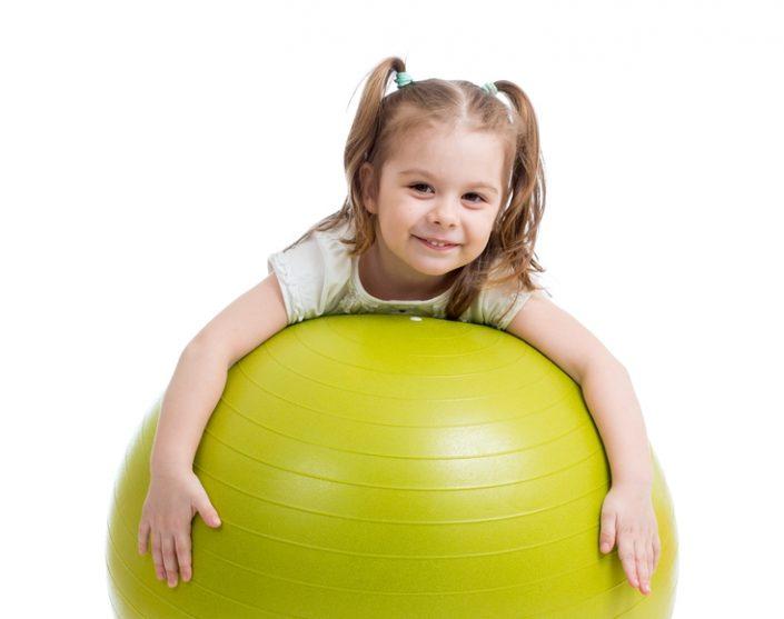 Cottam Nursery School fun with big ball